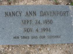 Nancy Ann Davenport