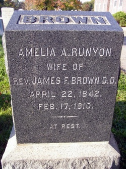 Amelia A <I>Runyon</I> Brown