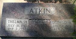 Thelma <I>Hartley</I> Atkin