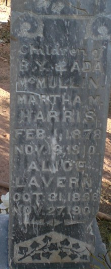 Martha <I>McMullin</I> Harris