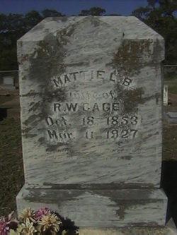 "Martha Lenora B. ""Mattie"" <I>Williams</I> Cage"