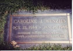 Caroline Josephine <I>Maurano</I> Menzies