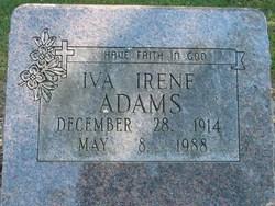 Iva Irene <I>Thompson</I> Adams