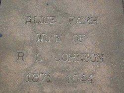 Alice <I>Farr</I> Johnson