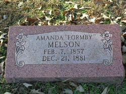 Amanda <I>Formby</I> Melson