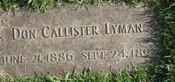 Don Callister Lyman
