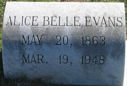 Alice Belle <I>Whiteley</I> Evans