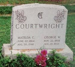 "Matilda Caroline ""Tillie"" <I>Huffman</I> Courtwright"