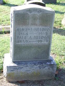 Alice Jane <I>Yarbro</I> Billings