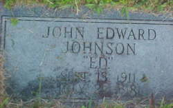 John Edward  Ed Johnson
