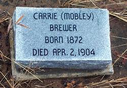 "Martha S. ""Carrie"" <I>Mobley</I> Brewer"