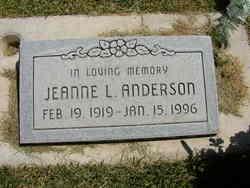 Jeanne L <I>Huntsman</I> Anderson