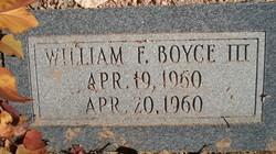 William F Boyce, III