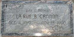 Mary LaRue <I>Bauers</I> Cannon