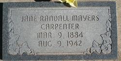 Jane <I>Randall</I> Mayers, Carpenter