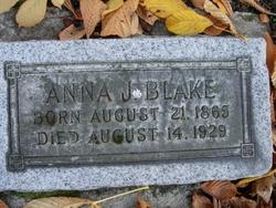 Anna J <I>Robinson</I> Blake