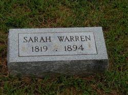 Sarah Pritchett <I>Wood</I> Warren