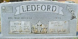 Martha Young <I>Thomas</I> Ledford