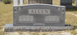 Mattie Gertrude <I>Darter</I> Allen