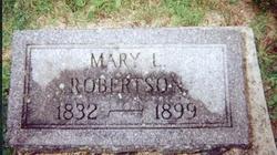 Mary Lucinda <I>Taylor</I> Robertson