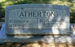 Olive <I>Phillips</I> Atherton