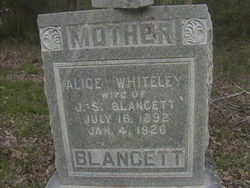 Alice <I>Whiteley</I> Blancett