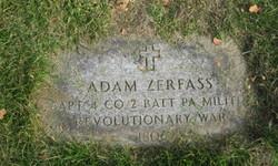 Capt Johann Adam Zerfass