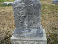 Fannie <I>Cole</I> DeShazo
