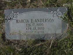 Marcia E Anderson