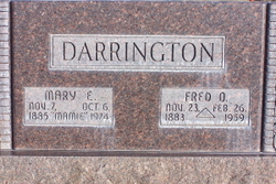 Mary Emily <I>Ottley</I> Darrington
