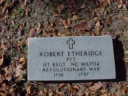 Pvt Robert Isaac Etheridge, Sr