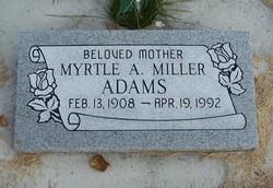 Myrtle Artelia <I>Miller</I> Adams