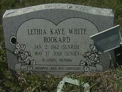 Lethia Kaye <I>White</I> Rookard