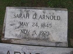 "Sarah D ""Sallie"" <I>Dodson</I> Arnold"