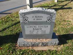 Lorene <I>Foster</I> Baker