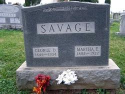 Martha Elizabeth <I>Ballenger</I> Savage