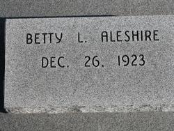 Betty L <I>Huffman</I> Aleshire