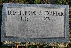 Lois <I>Hopkins</I> Alexander