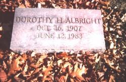Dorothy H Albright