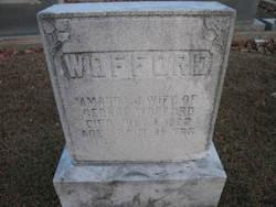 Amanda Jane <I>Fry</I> Wofford
