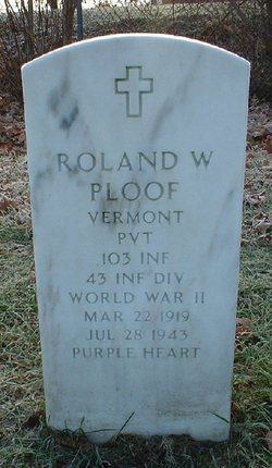 Pvt Roland W Ploof