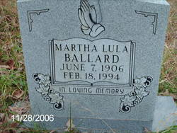 Martha Lula Ballard