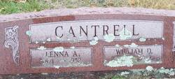 "Salinda Abigail ""Lenna"" <I>Shumate</I> Cantrell"