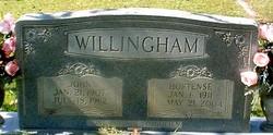 Willie Hortense <I>Bagwell</I> Willingham