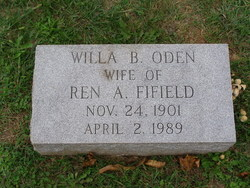 Willa Bradford <I>Oden</I> Fifield