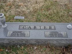 Minnie E. <I>Branham</I> Carter