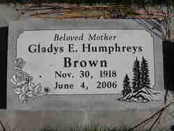 Gladys E. <I>Humphreys</I> Brown