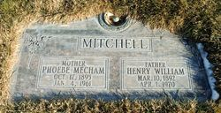 Phoebe Alberta <I>Mecham</I> Mitchell
