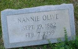 Nannie <I>Bagwell</I> Olive