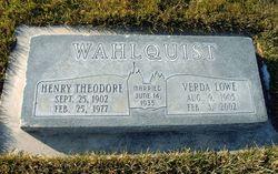 Henry Theodore Wahlquist